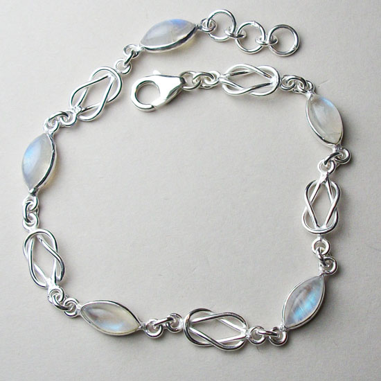 Moonstone & Celtic Love Knot Bracelet