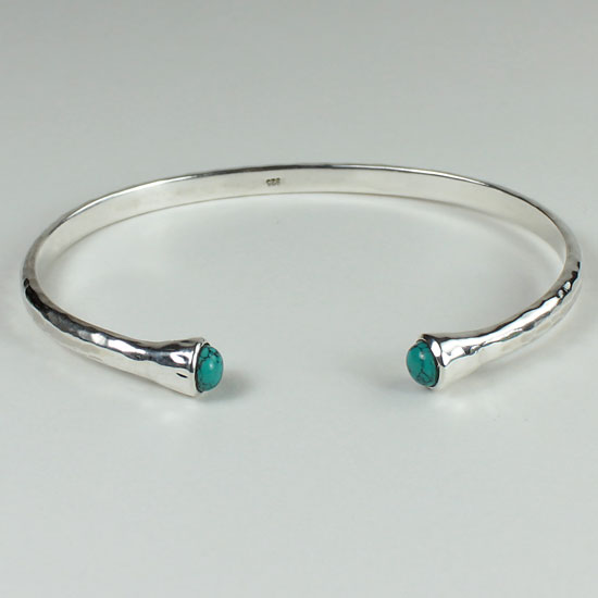 Turquoise Torque Bangle