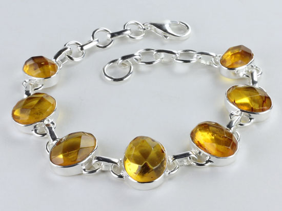 Baltic Amber Faceted Bracelet