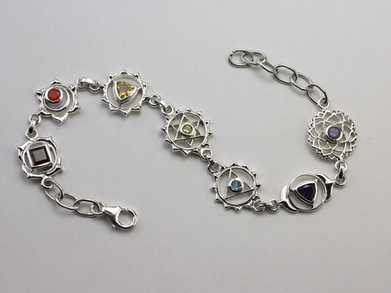 Authentic Chakras Symbol Bracelet