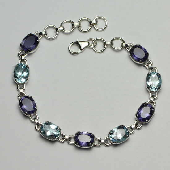 Iolite and Blue Topaz Bracelet