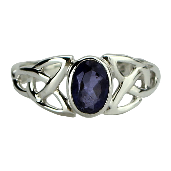 Iolite Celtic Ring