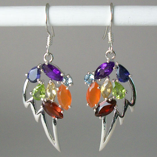 Angel Wing Chakra Earrings