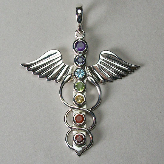Angel of Healing Caduseus Pendant
