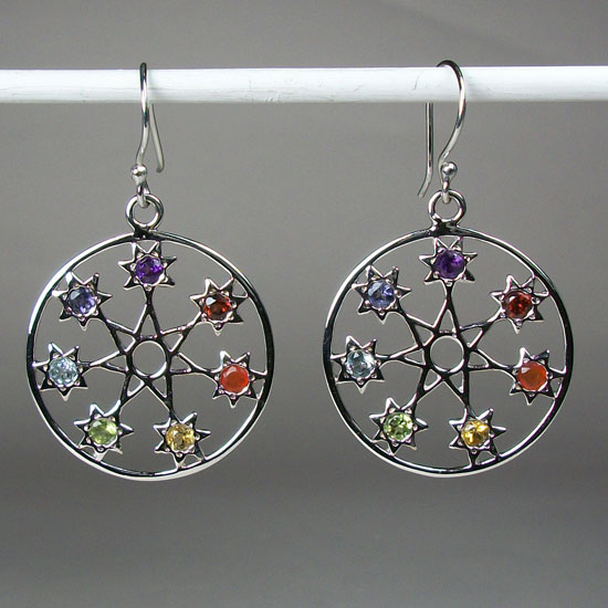 Fairy Star, Septagram Chakra Earrings
