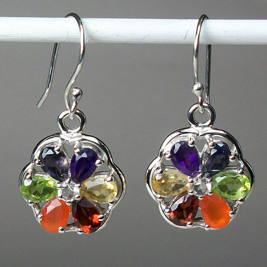 Chakra Power Petal Earrings