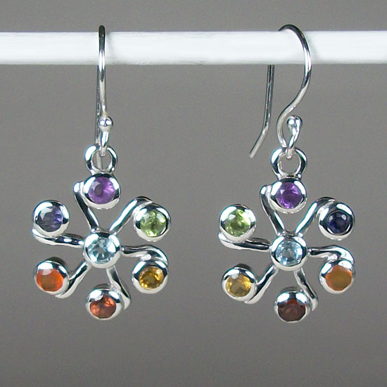 Chakra Jasmine Flower Earrings