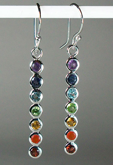 Chakra Energy Rod Earrings