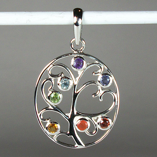Chakra Tree of Life and Love Pendant