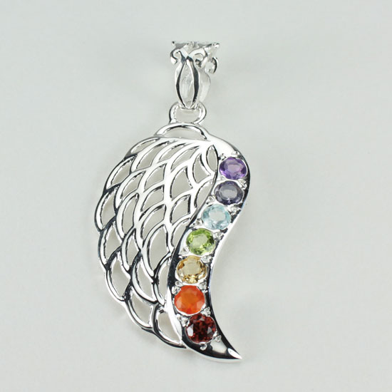 Chakra Guardian Angel Wing Pendant