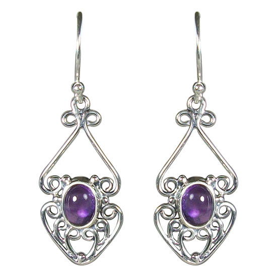 Amethyst Filigree Florets Earrings