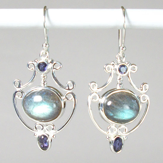Labradorite Flashy Fancy Earrings