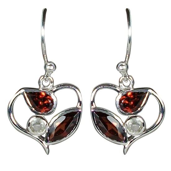Sterling Fine Silver Gemstone Earrings