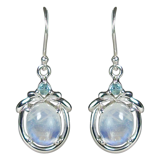 Moonstone Rainbow Glory Earrings