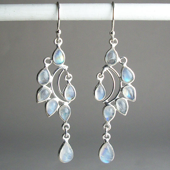 Moonstone Droplets Earrings