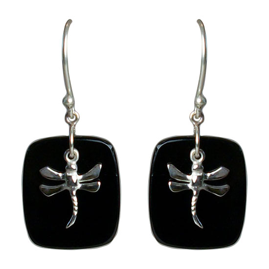 Dragonfly on Black Onyx