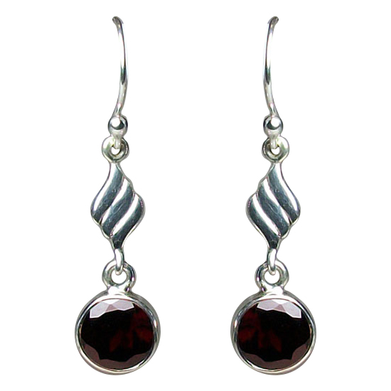 Garnet On Fire Earrings