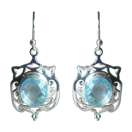 Blue Topaz Beauty Earrings