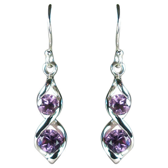 Amethyst Twister Earrings