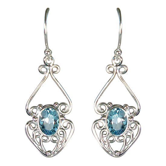 Topaz Fancy Filligree Earrings