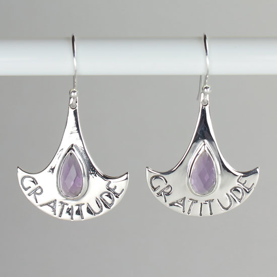 Amethyst Gratitude Earrings