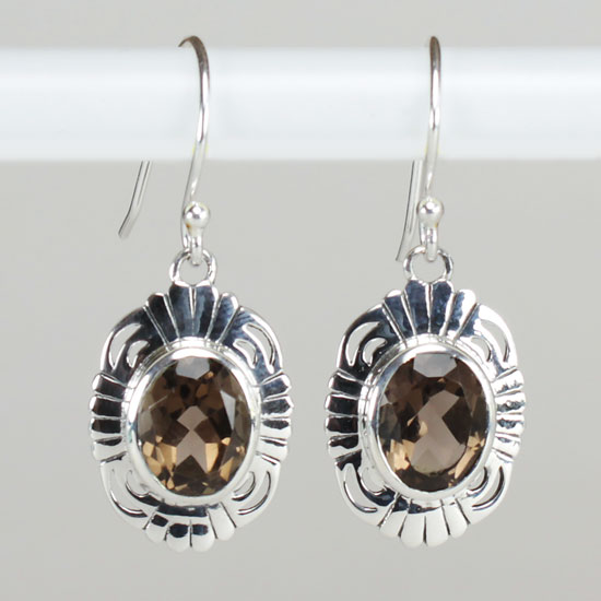 Smokey Quartz Mystery Earrings