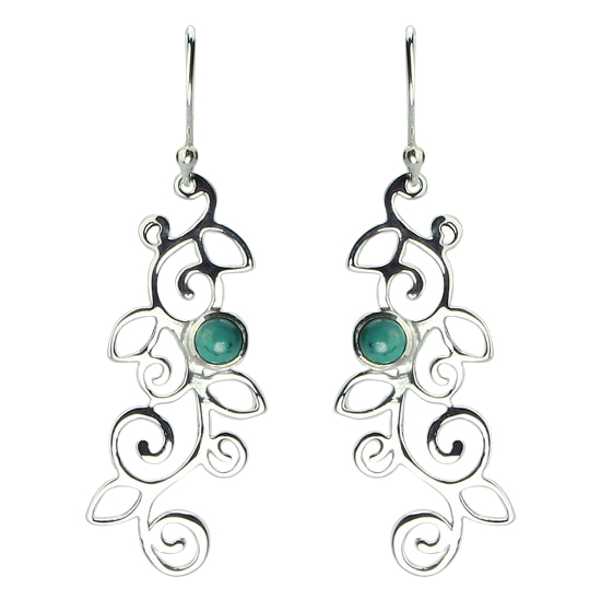 Turquoise Spirals and Swirls Earrings
