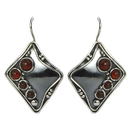 Carnelian Tribal Earrings