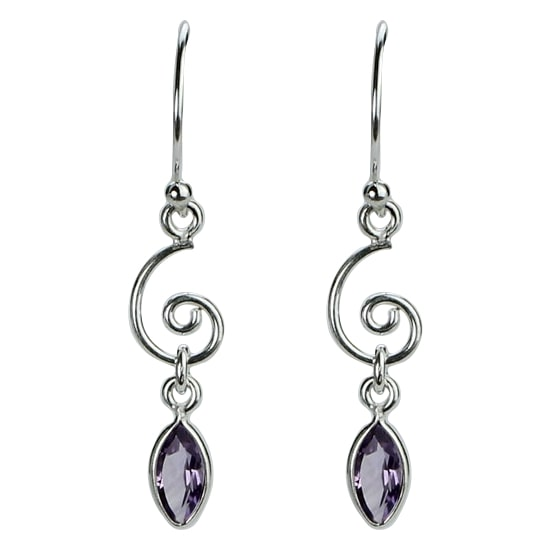 Iolite Spiral Earrings