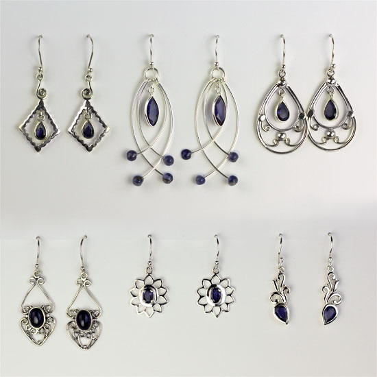 Iolite 6 Earrings Assortment