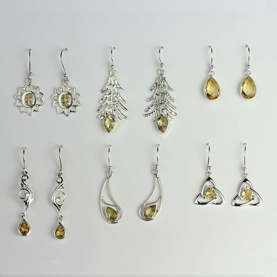 Citrine 6 Earrings Assortment
