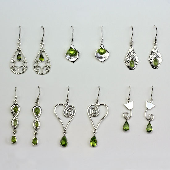 Peridot 6 Earrings Assortment