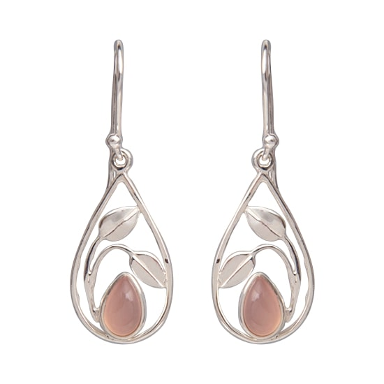 Pink Chalcedony Sugar Earrings