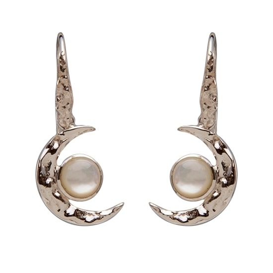 Crescent Moon Mother of Pearl Earrings