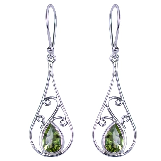 Peridot Tear Drop Earrings