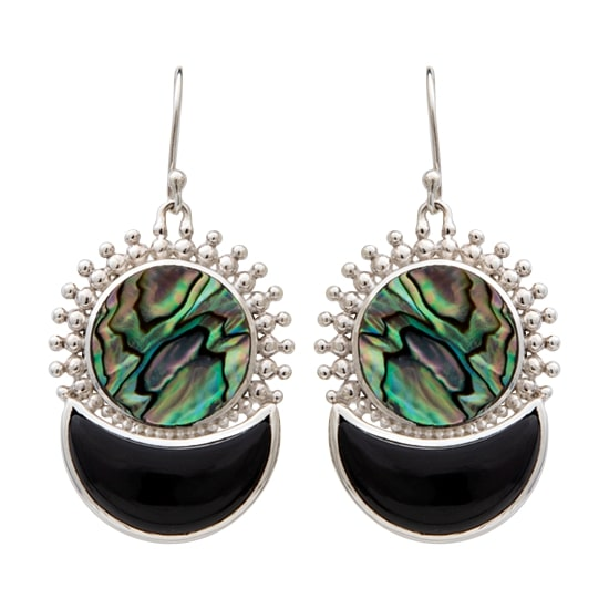 Moonstruck Onyx Shell Earrings