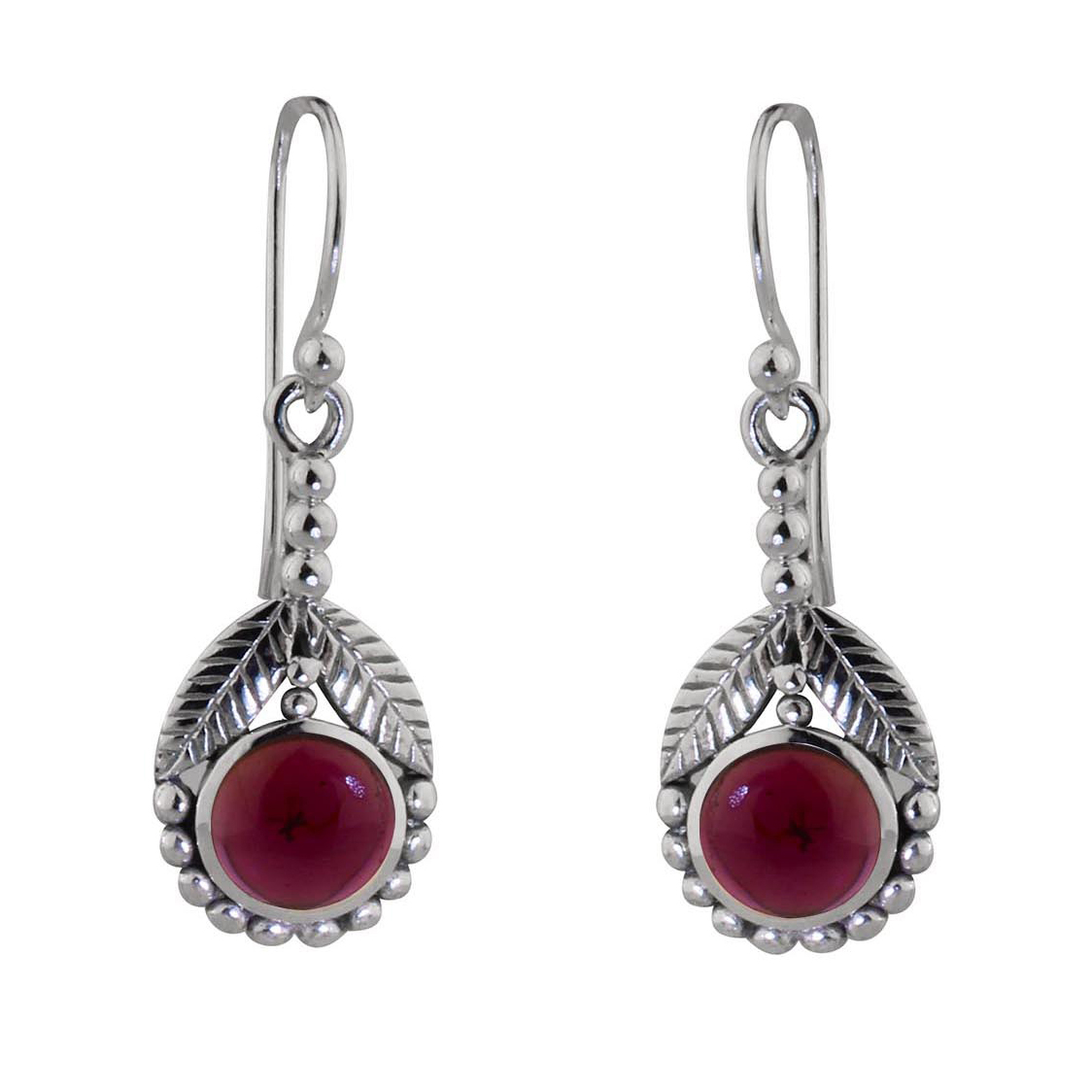 Garnet Daisy Dazzle Earrings