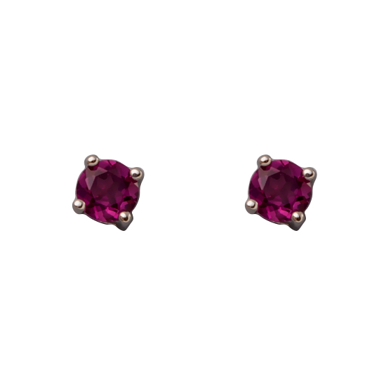 Rhodalite Garnet Stud Earrings