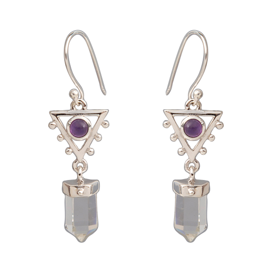 Amethyst Crystal Sacred Elements Earrings