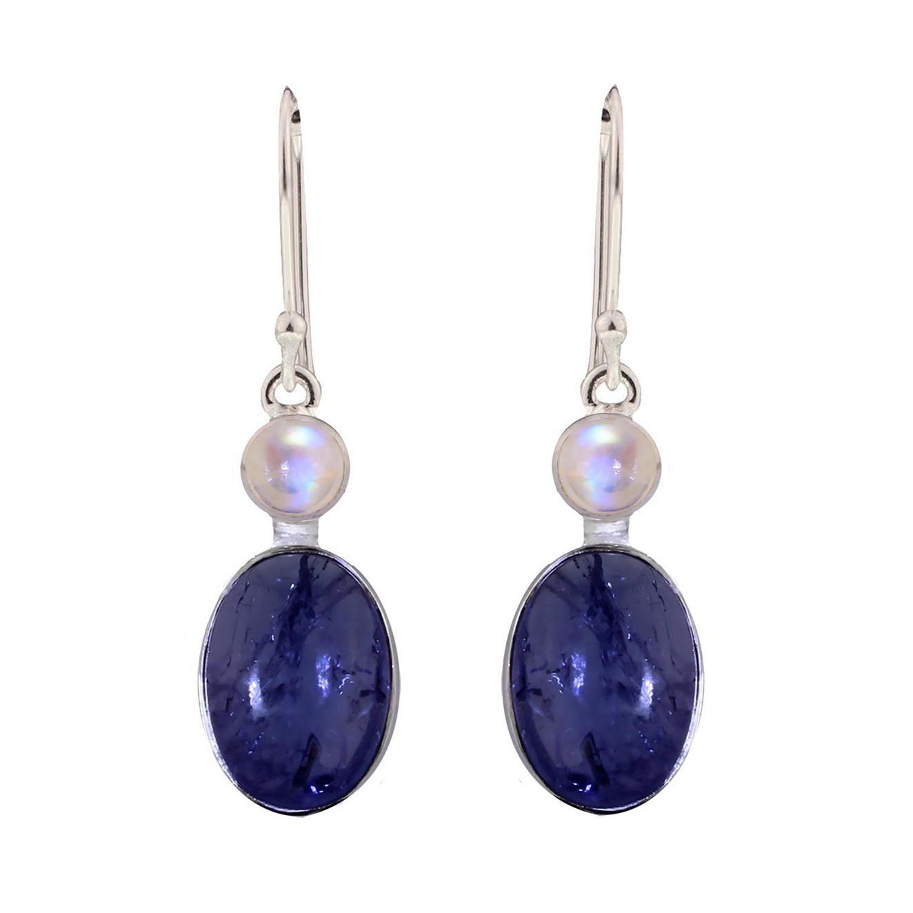 Tanzanite Moonstone Earrings