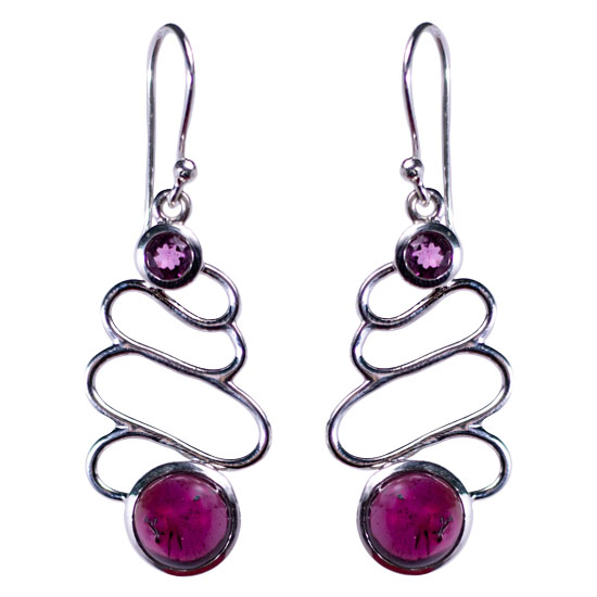 Garnet Gleeful Garnet Earrings