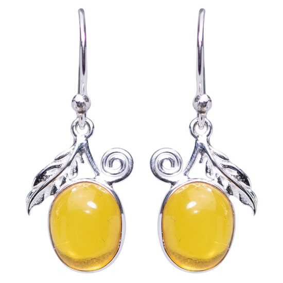 Baltic Amber Precious Sparkle Earrings