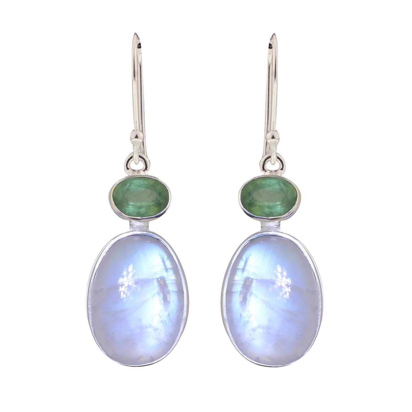 Moonstone Green Kyanite Earrings
