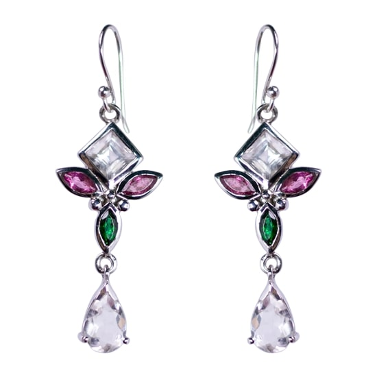 Tourmaline & Crystal Angelic Earrings