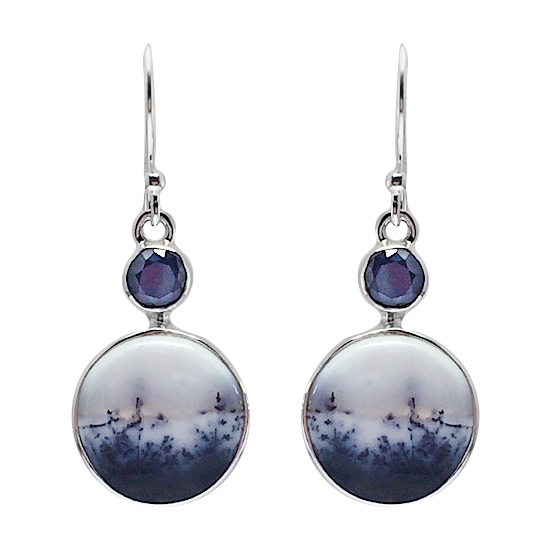 Merlinite Spinel Earrings