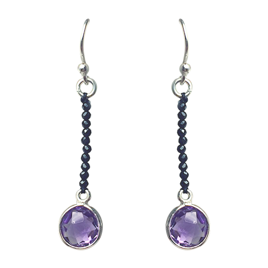 Sassy Spinel & Amethyst Earrings