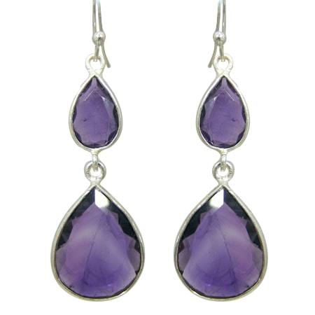 Amethyst Double Drop Earrings