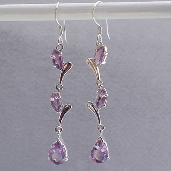 Amethyst Cascade Earrings