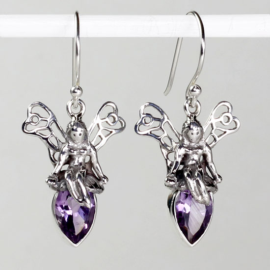 Amethyst Fairy Earrings