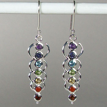 Chakra Energy Link Earrings